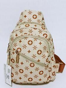 Men Fashion Chest Bag Sling Crossbody Faux Leather Shoulder Messenger Backpack