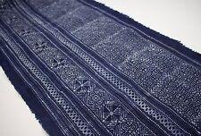 Indigo Batik Fabric Handmade Tribal Fabric Vintage  Style Craft Supply 10011
