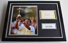 Tony Jacklin Signed Framed Photo Autograph 16x12 display Golf Aftal & Coa