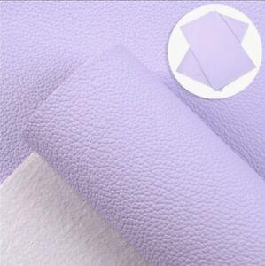 """Light Purple Lavendar Litchi Solid FAUX LEATHER SHEET 9"""" x 12"""" 1099262"""