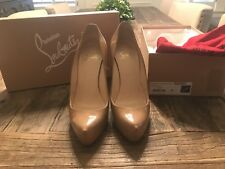 Christian Louboutin Rolando 120 Patent Calf Nude size 39 Pre-Owned