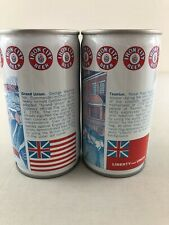 Lot of 2 Iron City History Beer Cans - Bottom Opened Steel Pull Tab