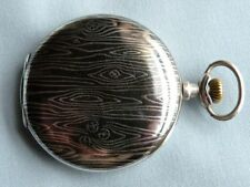 Full Hunter Lever Analog Silver Pocket Watches