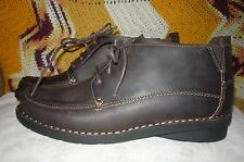 Womens NIB 11 W Clarks Nikki Class Brown Leather Lace Up Boots 15260 Wide