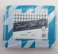 Beco Home Duvet Cover Kit Blue Turquoise Pattern Twin XL (Pack of 1)
