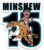 Gardner Minshew II Cartoon Magnet: Minshew Riding a Jag Jacksonville Jaguars #15
