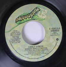 Rock 45 Carly Simon - Nobody Does It Better / After The Simon On Elektra