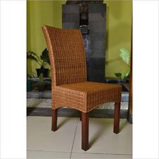 International Caravan Bali Campbell Rattan Wicker Stained Dining Chair NEW