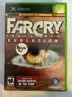 FARCRY INSTINCTS EVOLUTION - XBOX - COMPLETE W/ MANUAL - FREE S/H - (T8)