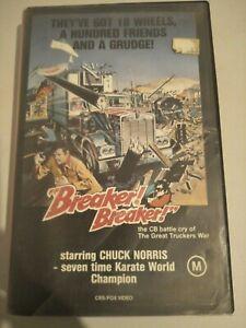 """Breaker! Breaker!"" 1977 Action VHS *CBS Fox Video* Movie Chuck Norris RARE"