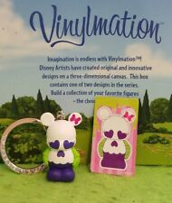 "Disney Vinylmation 1.5"" Park Set 1 Junior Jr Keychain w/ Sticker Skull Hearts"