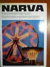 ELEKTROTECHNIK - NARVA Kerzen- und Illuminations-Kleinlampen - Prospekt (1975)