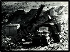 Mack Trucks New Metal Sign: WJ Makowski Dump Truck w Lorain 75B Shovel/Crane