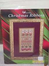 NEW CHRISTMAS RIBBONS Cross Stitch Leaflet & Embellishments JUST NAN 2007