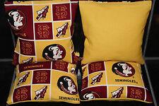 Florida State Seminoles 4 Cornhole Bean Bags Game Baggo Toss Quality Handmade!
