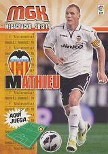 N°314 JEREMY MATHIEU # FRANCE VALENCIA.CF CARD PANINI MGK LIGA 2014