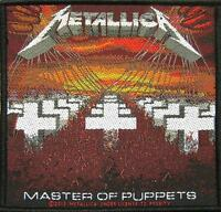 METALLICA PATCH / AUFNÄHER # 9 MASTER OF PUPPETS - 10x10cm