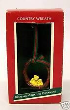 "Hallmark Miniature Keepsake Ornament ""Country Wreath"""