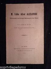 M. l'Abbé Alfred Alexandre, Direct. au Grand Séminaire du Mans, par A Huet 1903