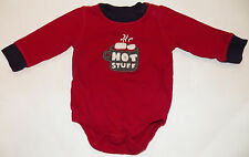 Baby Gap Hot Stuff Bodysuit Size 3-6 Months Red Shirt Top Boys Girls Chocolate