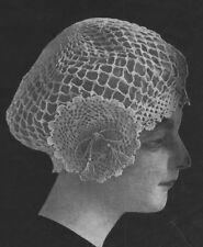 Vintage Visage repro Pattern - 1900 S très ancien joli Crochet Lace Hat Pattern