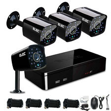 ELEC 4CH 1500TVL 960H HDMI Video Record P2P DVR CCTV Home Security Camera System