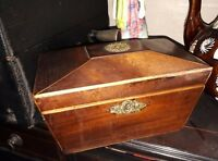 Vintage sarcophagus Tea Caddy for light restoration