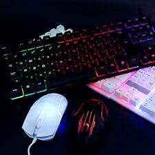 USB LED-Leuchte Gaming Tastatur und Maus Set Satz für Computer PC Multimedia