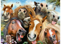 Ravensburger 500 piece Selfies Horsing Around Jigsaw Puzzle RB14695-6