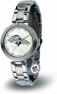NEW! DENVER BRONCOS WOMEN'S CHARM WATCH MOTHER OF PEARL LICENSED