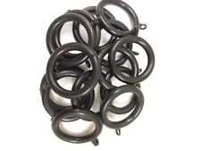 Black plastic curtain pole rings for 28mm pole. Priced per ring