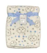 BLANKET PLUSH - DUCK DUCK GOOSE BOYS - CLOUDS STARS - BABY TODDLER CRIB BED