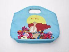 Escada Agua del sol Aqua Blue Insulated Zipper Lunch Bag Carry Tote Cooler
