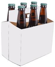 SIX PACK BOTTLE CARRIER CARDBOARD BOXES FOR 12OZ BEER OR SODA (10 UNITS)