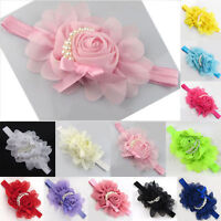 Cute Rose Flower Hair Band Pearl Headband Baby Girls Children Exquisite Gifts