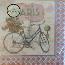 PAPER NAPKINS / SERVIETTES PACK OF 20 PARIS ON A BIKE DESIGNS 3PLY