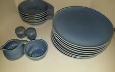 Russell Wright Oneida Mixed Lot Manitoga Blue Dinner Plates Lug Bowls Dishes
