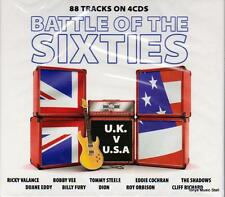 THE BATTLE OF THE SIXTIES - UK v USA, 88 TRACKS VARIOUS ARTISTS (NEW SEALED 4CD)