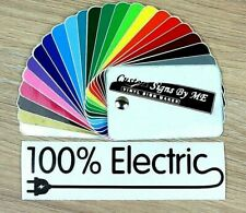 100% Electric Car Bike Scooter Sticker Vinyl Decal Adhesive Window Bumper Black