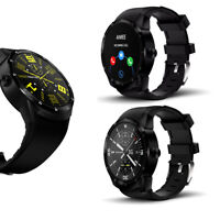 """NEW 1.3"""" Android SmartWatch [44mm + Android 4.4.2 + DualCore CPU + WiFi] BK"""