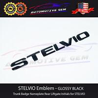 Stelvio Emblem Gloss Black Logo Rear Trunk Liftgate Letter Badge for Alfa Romeo