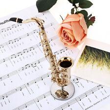 1/6 Mini Alto Sax Saxophone Musique de Instrument Cuir Boîte Jouet Cadeau Enfant