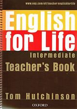 Oxford ENGLISH FOR LIFE Intermediate TEACHER'S BOOK w CD-ROM Tom Hutchinson @NEW