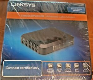 New In-Box Linksys DPC3008 Advanced Cable Modem For Comcast Shrink Wrapped