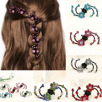 6/12Pcs Kids Girls Hair Pin Claw Clip Mini Headwear Rhinestone Flowers Hairpins
