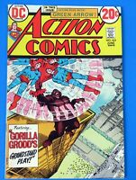 ACTION COMICS #424 COMIC BOOK ~ SUPERMAN ~ 1973 DC BROZE AGE  ~ VF+