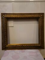 Antique Mid Century Carved Gold Gilt Wood Picture Frame Fits 15 1/2 x 12 1/2