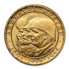 Romania 1944 Gold 20 Lei BU - SKU #84694