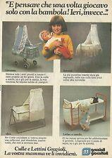 X4471 Culle e Lettini - Grazioli giocattoli - Pubblicità 1979 - Advertising