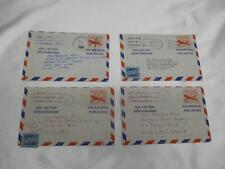 Old Vtg 1958 HAND WRITTEN AIR LETTER AEROGRAMME CORRESPONDENCE PAPER LETTERS - 4